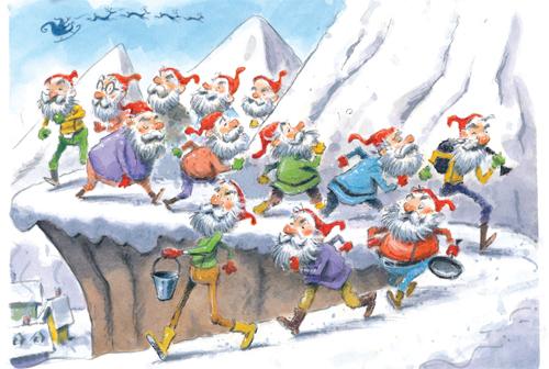 13 santas in iceland